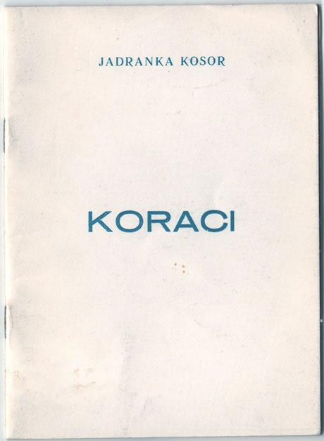 Jadrankina zbirka pjesama Koraci iz 1971. godine