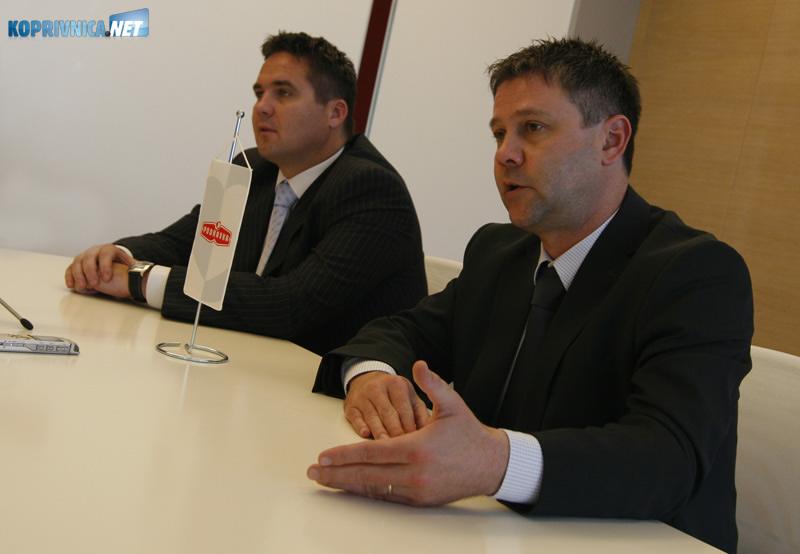 Članovi Podravkine Uprave na slobodi Miroslav Vitković (desno) i Marin Pucar. Snimio: Marijan Sušenj