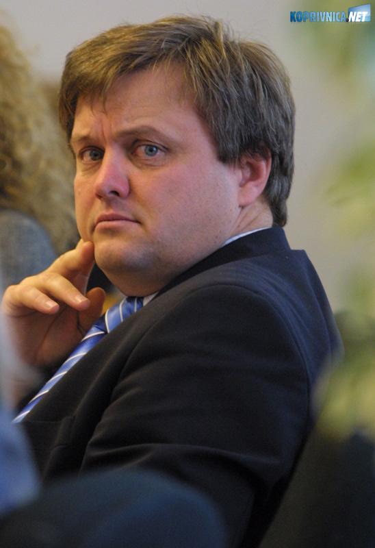 Gradonačelnik Zvonimir Mršić misli da Koprivnica i Podravina ne gube ništa odlaskom Polančeca s mjesta potpredsjednika Vlade. Snimio: Marijan Sušenj