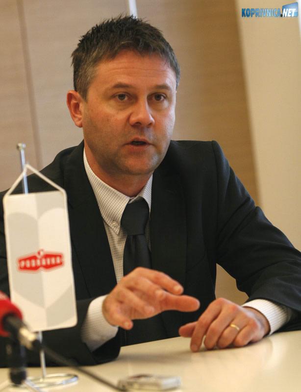 Član Uprave Podravke Miroslav Vitković. Snimio: Marijan Sušenj