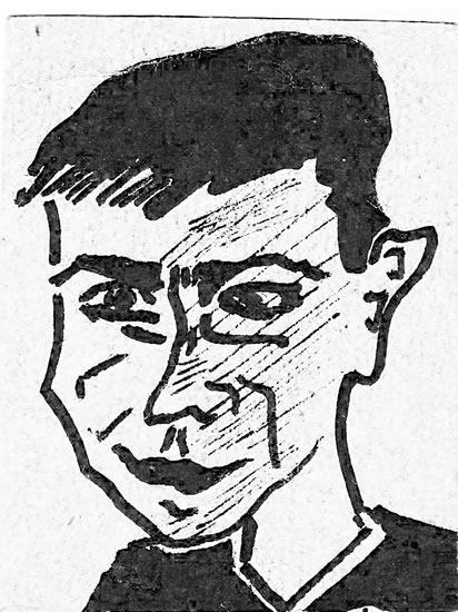 Karikatura Ivice Dekovića 1959. godine