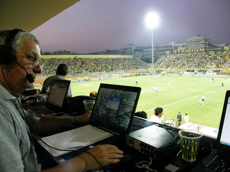 Primjer uvjeta rada na stadionu u Solunu, smije se i popit'