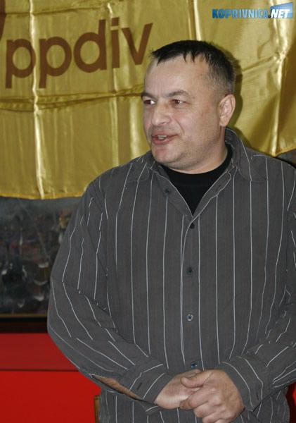 Željko Dragec, glavni povjerenik sindikata PPDIV-a Belupo. Snimio: Marijan Sušenj
