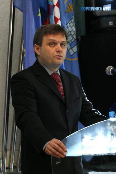 Zvonimir Mršić, gradonačelnik Koprivnice . Snimio: Marijan Sušenj