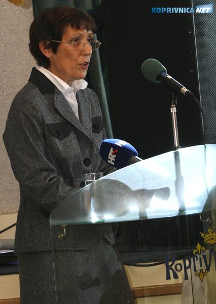 Gordana Slavetić, ravnateljica koprivničke Opće bolnice Dr. Tomislav Bardek. Snimio: Marijan Sušenj