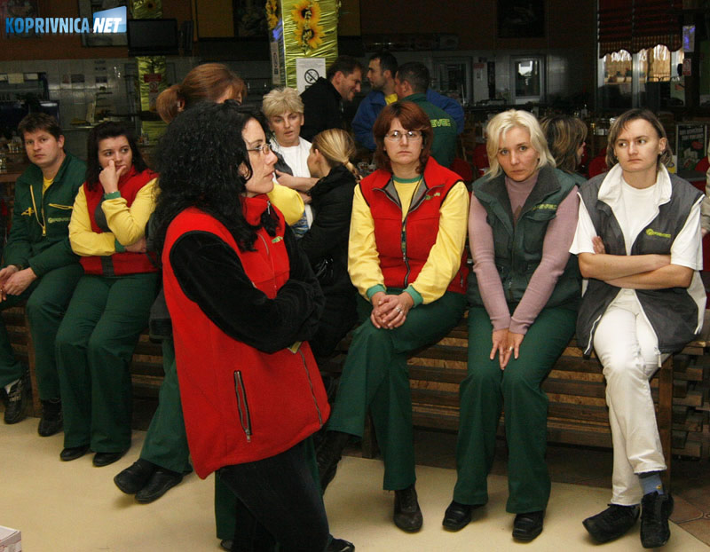 Radnici Peveca nisu dobili plače za rujan i listopad. Snimio: Marijan Sušenj