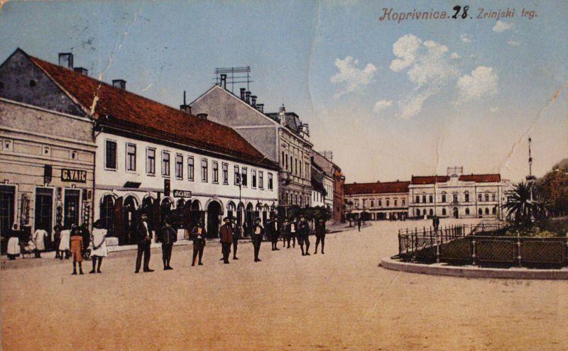 Stari Zrinski trg / Iz zbirke razglednica Muzeja grada Koprivnice
