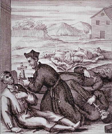 Epidemija kuge - ilustracija