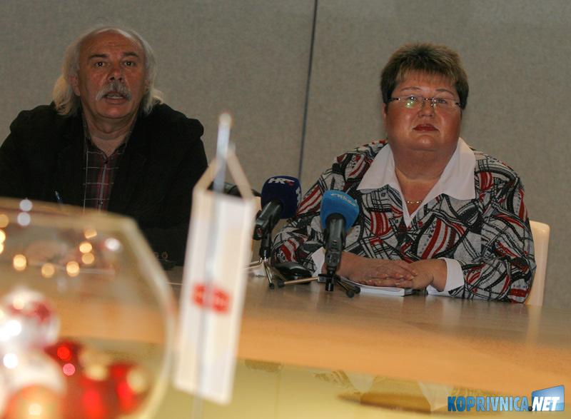 Mladen Pavković i Martinka Marđetko-Vuković. Snimio: Marijan Sušenj