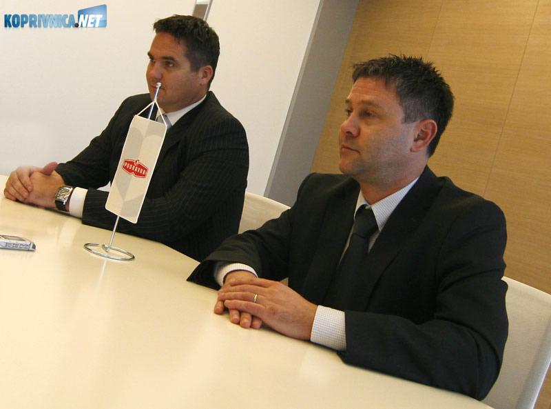 Miroslav vitković (desno) i Marin Pucar, članovi Podravkine Uprave. Snimio: Marijan Sušenj