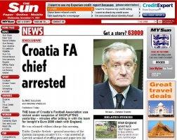 Krasna reklama za hrvatski nogomet! // Izvor: The Sun