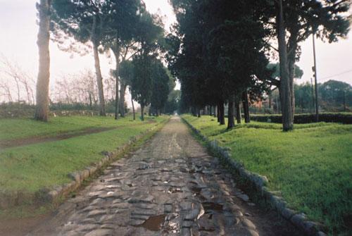 ilustracija - stara rimska cesta