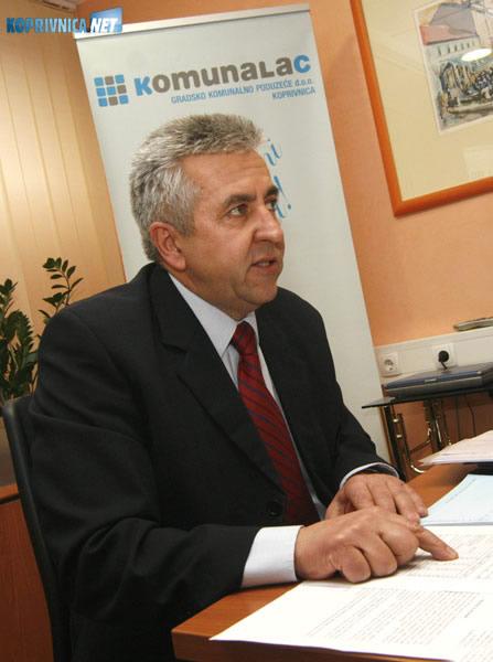 Josip Pobi, predsjednik Uprave Komunalca. Snimio: Marijan Sušenj