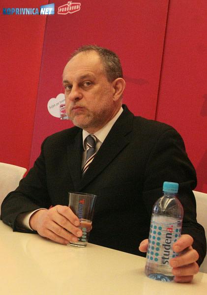 Darko Marinac, uhićeni bivši predsjednik Uprave Podravke. Snimio: Marijan Sušenj