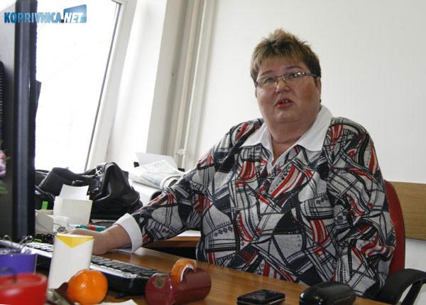 Martinka Marđetko Vuković, predsjednica Podravkinog sindikata HUS. Snimio: Marijan Sušenj