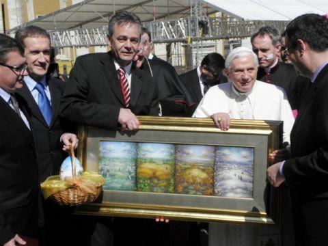 Papi darovane pisanica, slika i zlatnik Sv. Marka