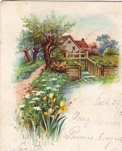 Uskrs Ožujak1901 // Ova je uskrsna čestitka poslana iz jednog mjesta u Nieder Oesterichu gimnazijalcu u Zagrebu Stjepanu Mašanskeru; stigla je 30. ožujka 1901