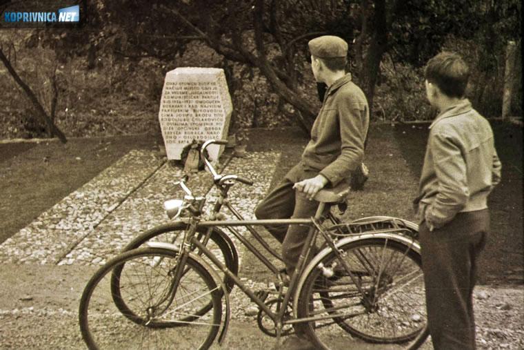 Bicikli u zagrebačkoj Kustošiji 60-ih // Snimio Ivo Čičin-Mašansker