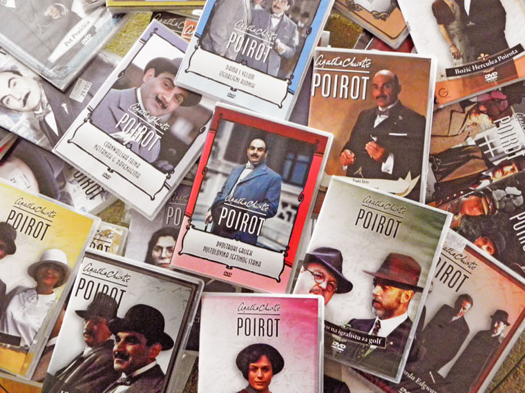 DVD-i Poirota Aghate Christie iz autorove diskoteke:  Snimio: Ivo Čičin-Mašansker