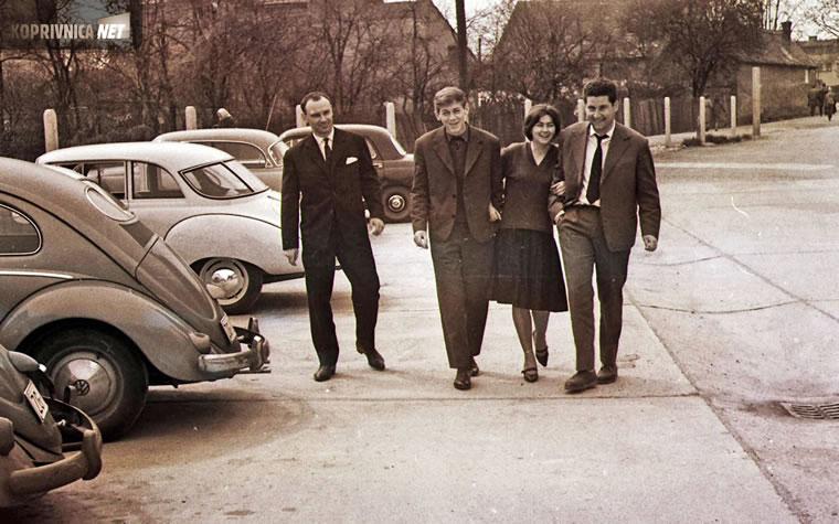 Klapa iz Vjesnika: Vlado Burić, Darko Herceg, Seška Stanojlović  i Zdravko Židovec: snimio Ivo Čičin-Mašansker