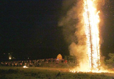 Najveća je vuzmica zapaljena u Popovcu Kalničkom // foto: RKC