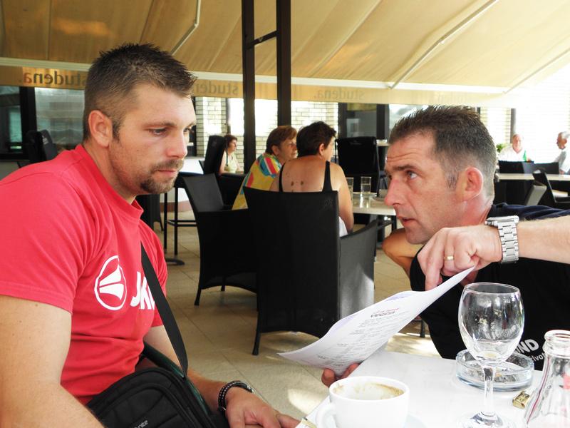 Bojan Gplub i Neven Hrupec, priprema za trening