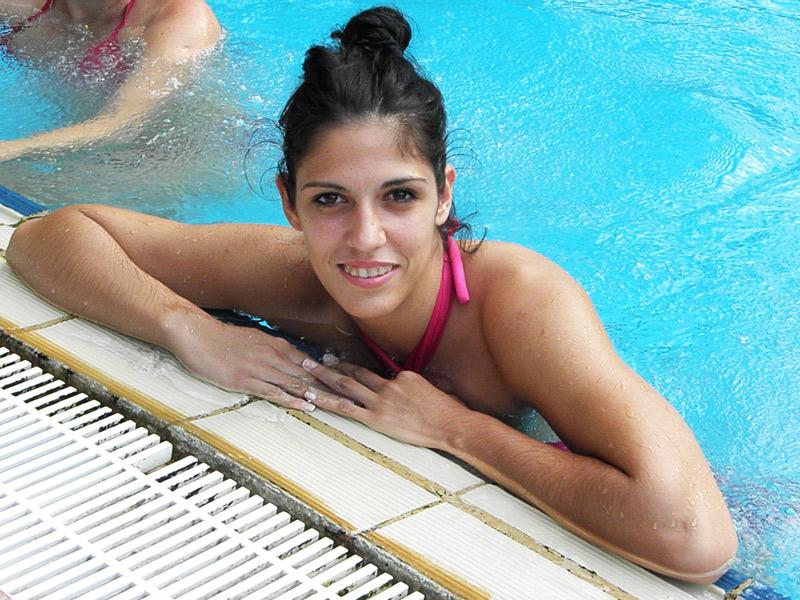 Marta Žderić u daruvarskom bazenu