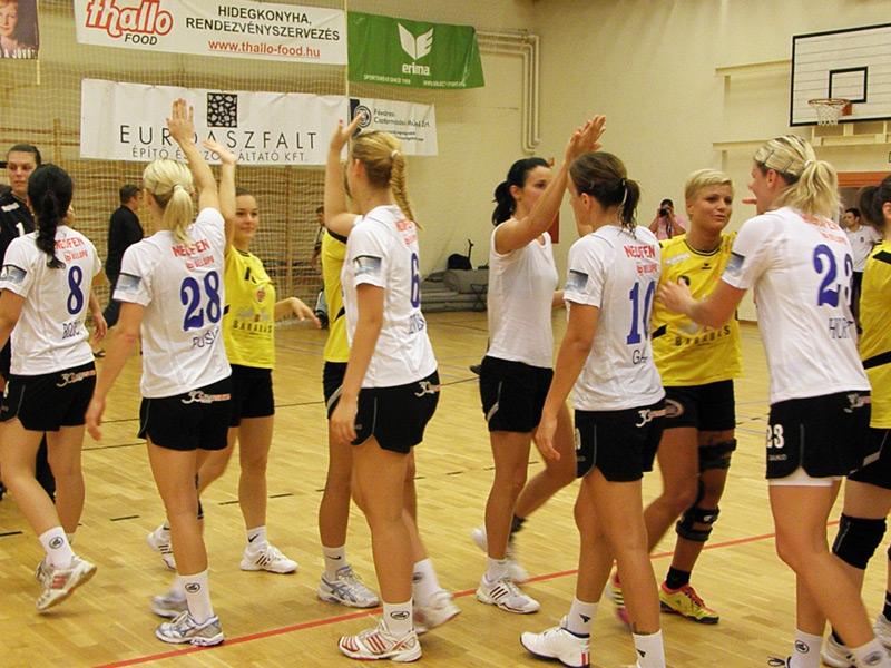 Pozdrav nakon utakmice s Veszprémom
