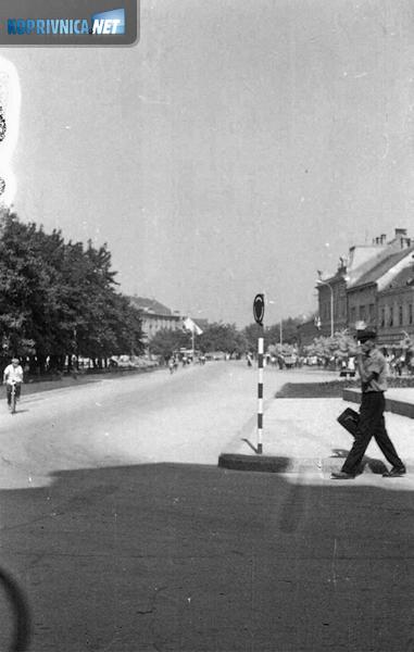 Središte Koprivnice šezdesetih