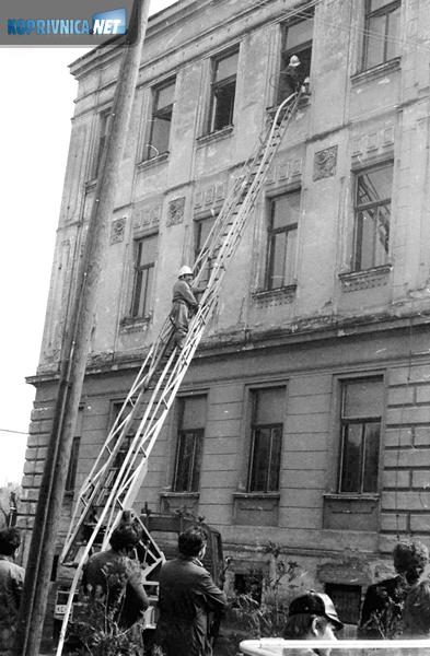 Manji požarni incident na zgradi tadašnje gimnnazije, danas je zovemo stara gimnazija (u Školskoj ulici), početkom šezdesetih godina