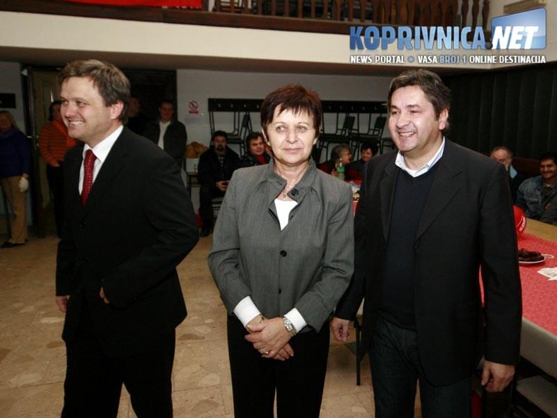 Čelnici koprivničkog SDP-a / Foto: Ivan Brkić