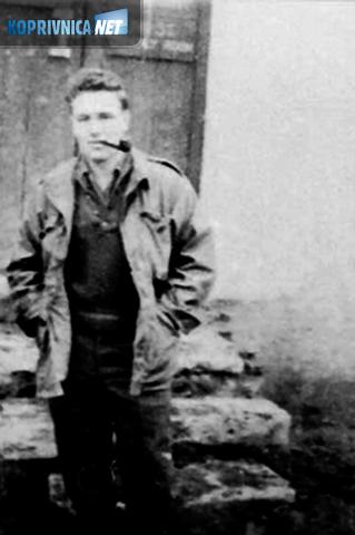 John Merritt u potkalničkom kraju 1944. godine (preslik fotografije)