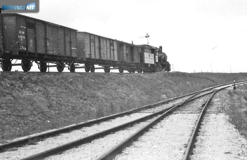 Vlak pokraj Bilokalnika početkom šezdesetih godina