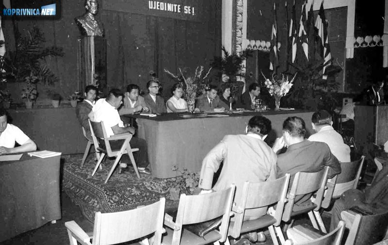 Glamurozna konferencija SK u Domu kulture u Koprivnici 1962. godine