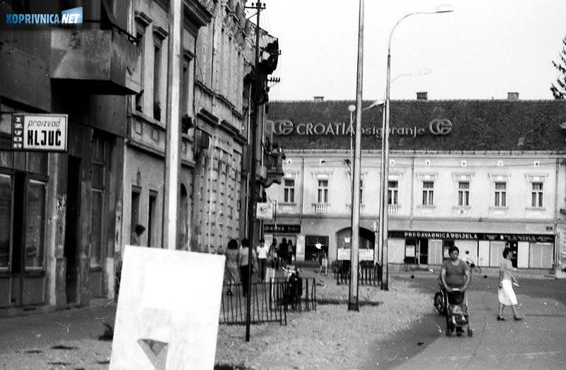 Centar Koprivnice osamdesetih