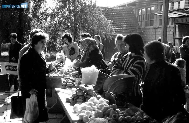 Koprivnički plac prije četvrt stoljeća