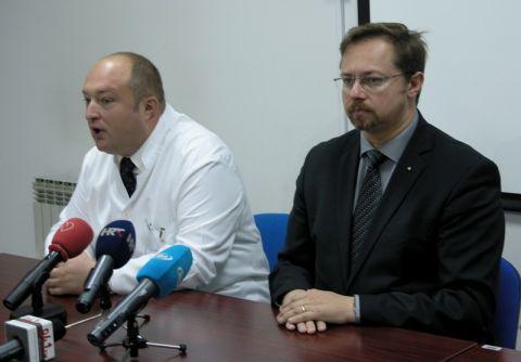 Ravnatelj bolnice Petar Stapar i Siniša Varga, ravnatelj HZZO-a // foto: RKC