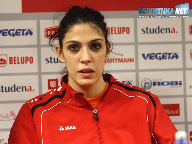 Marta Žderić na pressici // Foto: Koprivnica.net