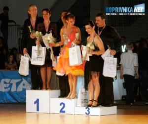 Koprivnički plesači na pobjedničkom postolju: Damir Valentić i Mihaela Juranić osvojili su prvo, a Marina Tomac Rojčević i Neno Rojčević treće mjesto