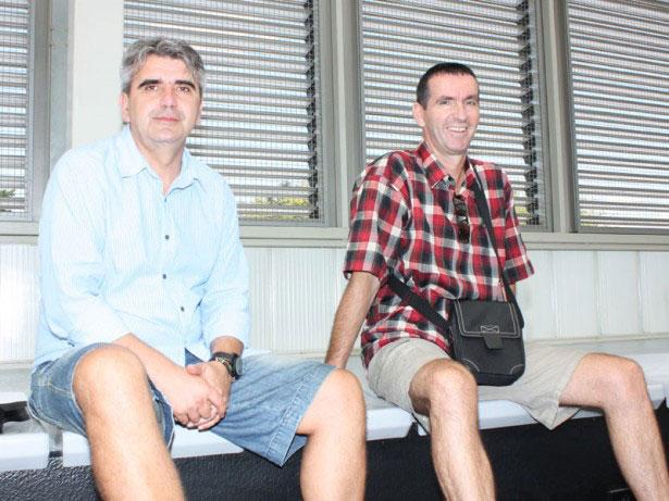 Goran Mrđen i član Upravnog odbora RK Podravka Anđelko Stričević // Foto: Koprivnica.net