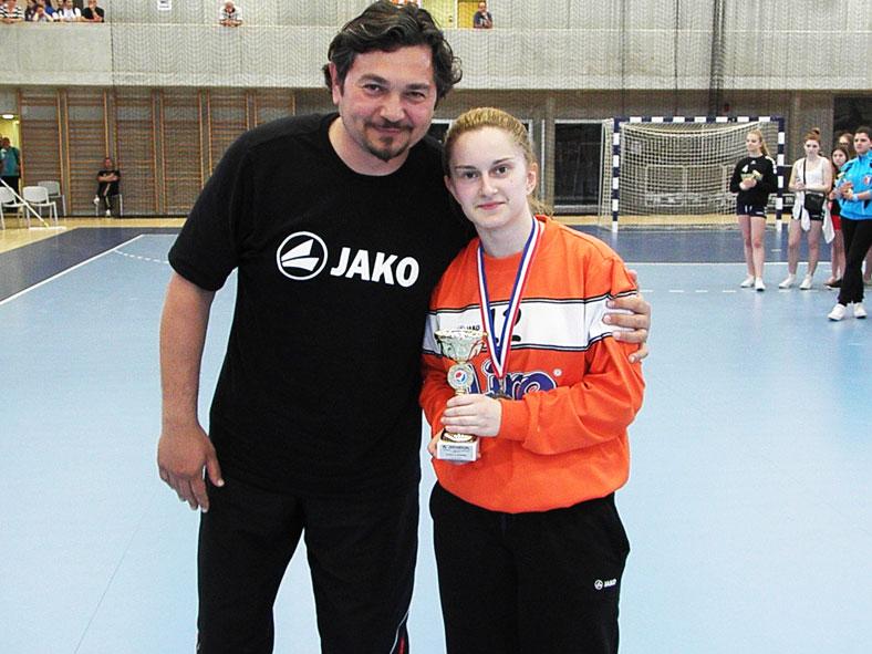 Vladimir Vujović i Ana Krmpotić // Foto: RK Podravka - Ivo Čičin-Mašansker