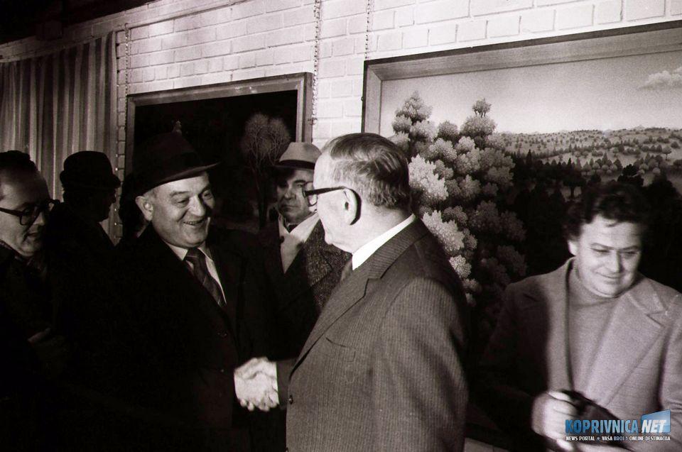 Pozdrav s bivšim predsjednikom Skupštine općine i generalnim Podravke Stjepanom Kapustom