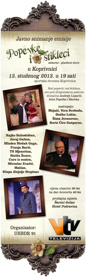 Popevke i štikleci uskoro u Koprivnici