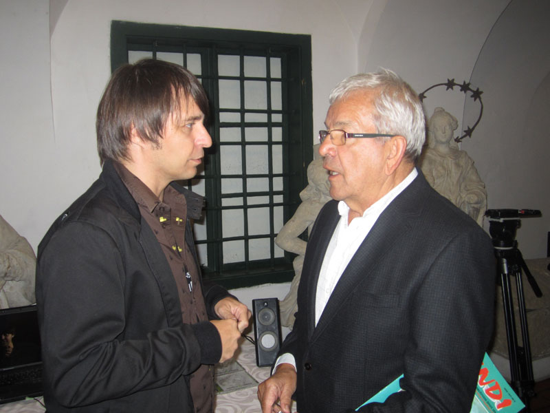 Goran Živković i Miškinin unuk Zvonimir Pavlek // Foto: Koprivnica.net