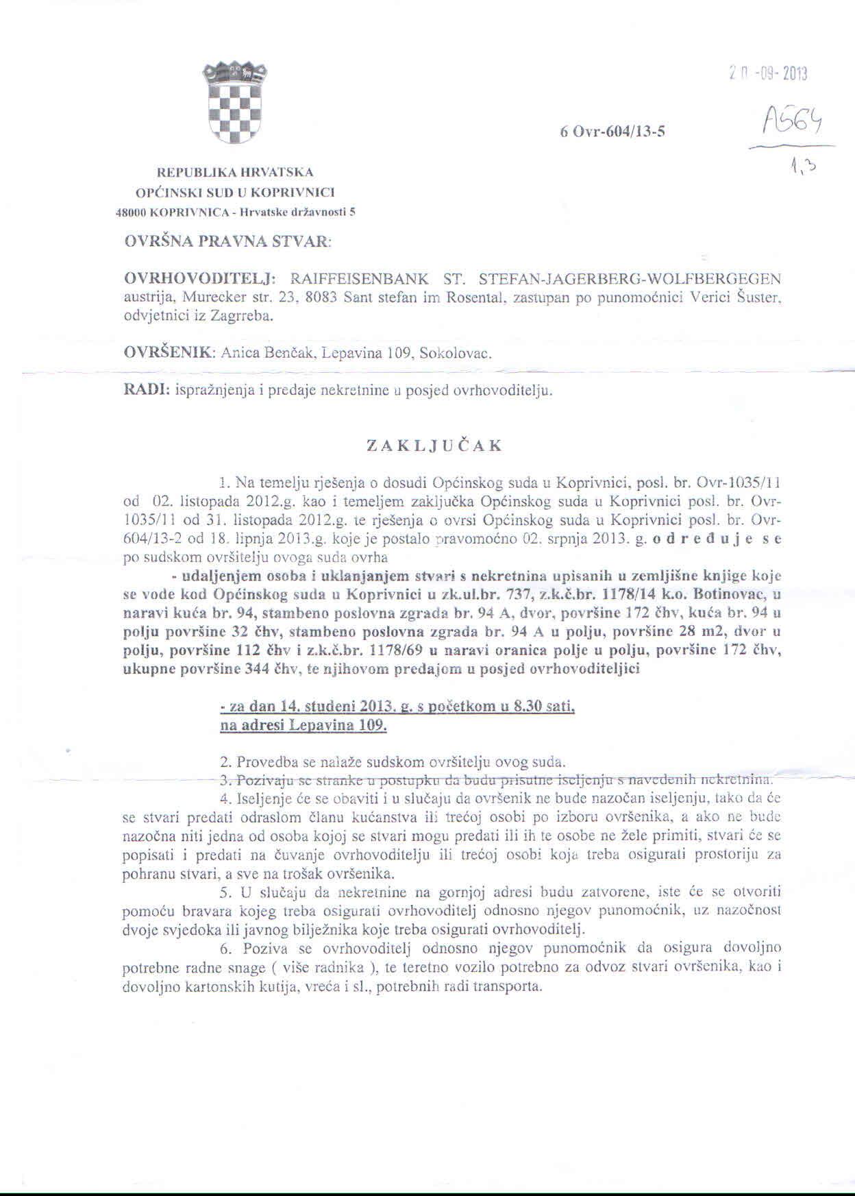Sudski zaključak - izvor: udrano.com