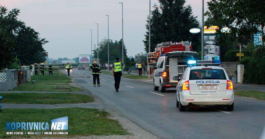 Teška prometna nesreća u Peteranskoj u kojoj je smrtno stradalo dvoje mladih ljudi // Foto: Koprivnica.net