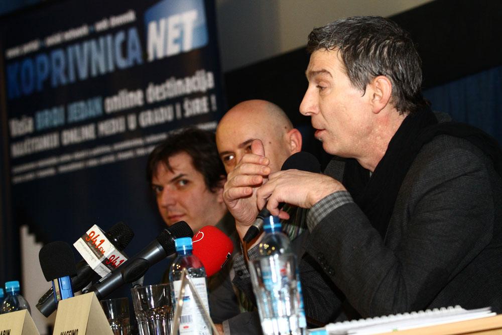 Tomislav Horvatinović, Marin Hraščanec i Massimo na pressici // Foto: Marko Horvat