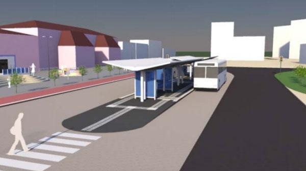Prijedlog izgleda novog autobusnog terminala pokraj Željezničkog kolodvora u Koprivnici