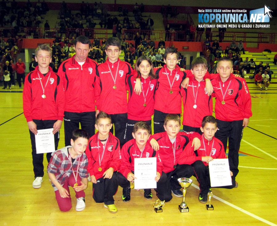 Mladi igrači Graničara iz Đurđevca slavili su u konkurenciji mlađih pionira // Foto: Koprivnica.net
