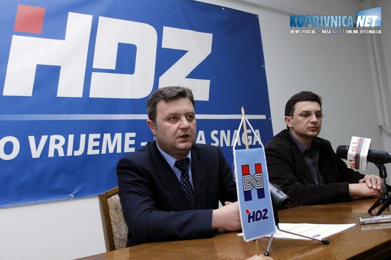Darko Sobota, predsjednik županijskog HDZ-a, na konferenciji za novinare u Koprivnici // Foto: Koprivnica.net
